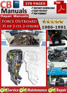 force outboard 35 hp 35hp 2 cyl 2-stroke 1986-1991 service repair manual