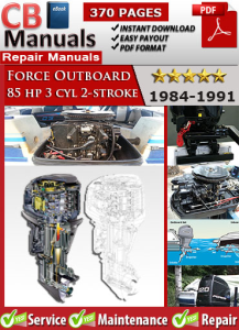 force outboard 85 hp 85hp 3 cyl 2-stroke 1984-1991 service repair manual