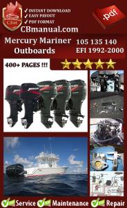 Mercury Mariner 105 135 140 EFI 1992-2000 Service Repair Manual | eBooks | Automotive