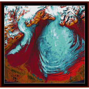 malaspina glacier - alaska - earth as art cross stitch pattern by cross stitch collectibles