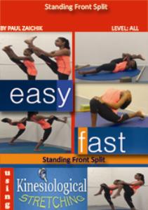 standing front split