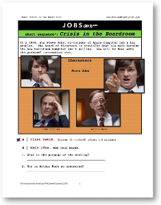 jobs, crisis in the board room, short-sequence english (esl) lesson