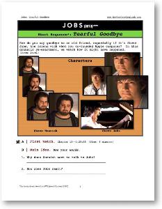 jobs, tearful goodbye, short-sequence english (esl) lesson