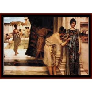 the frigidarium - alma tadema cross stitch pattern by cross stitch collectibles