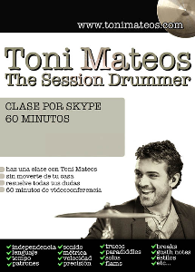 the session drummer. skype 60 minutos
