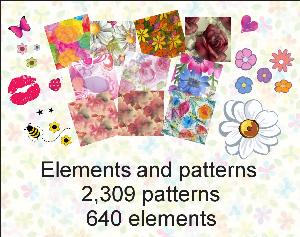 paint shop pro elements & patterns pack 1