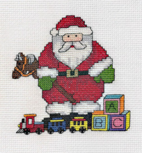 santa with toys picture
