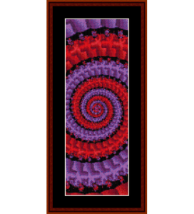 fractal 122 bookmark cross stitch pattern by cross stitch collectibles