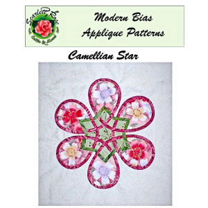 camellian star modern bias applique pattern