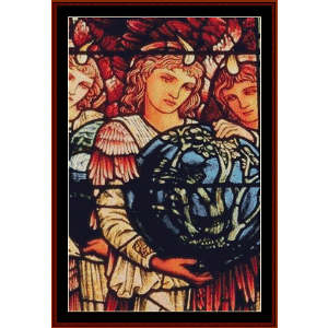 angels of creation - burne-jones cross stitch pattern by cross stitch collectibles