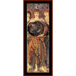 3rd day of creation - burne-jones cross stitch pattern by cross stitch collecitbles