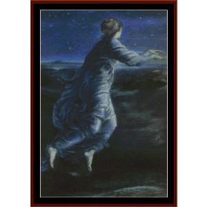 night, 1870 - burne-jones cross stitch pattern by cross stitch collectibles
