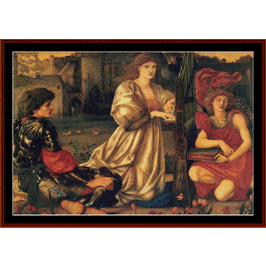 song of love - burne-jones cross stitch pattern by cross stitch collectibles
