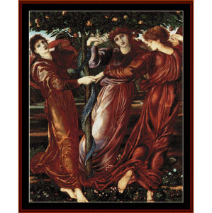 garden of the heserides - burne-jones cross stitch pattern by cross stitch collectibles