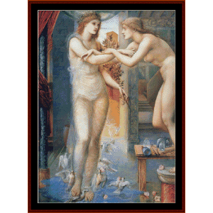 the godhead fires - burne-jones cross stitch pattern by cross stitch collectibles