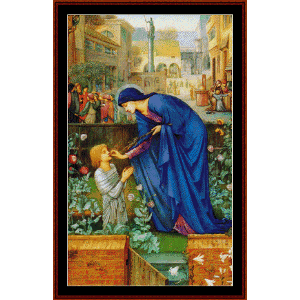 the prioriess - burne- jones cross stitch pattern by cross stitch collectibles