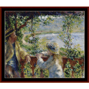 near the lake - renoir cross stitch pattern by cross stitch collectibles