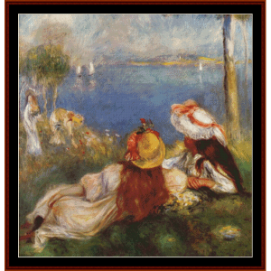 Girls on the Seashore - Renoir cross stitch pattern by Cross Stitch Collectibles | Crafting | Cross-Stitch | Wall Hangings