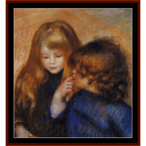 young gypsy girls - renoir cross stitch pattern by cross stitch collectibles