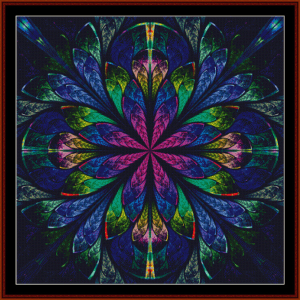 Fractal 444 cross stitch pattern by Cross Stitch Collectibles | Crafting | Cross-Stitch | Wall Hangings