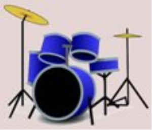 five colours in her hair- -drum tab
