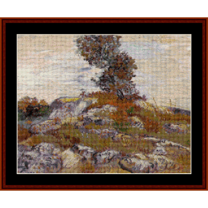 the rocks - van gogh cross stitch pattern by cross stitch collectibles