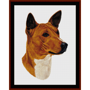 basenji - robert j. may cross stitch pattern by cross stitch collectibles