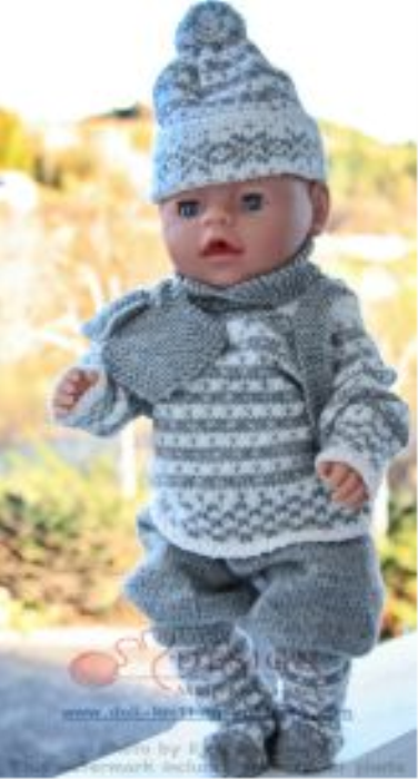 First Additional product image for - DollKnittingPattern 0014D TRULS-TRINE - sweater, pants, hat, socks, gloves and rucksack-(English)