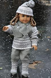 DollKnittingPattern 0014D TRULS-TRINE - sweater, pants, hat, socks, gloves and rucksack-(English) | Crafting | Knitting | Baby and Child