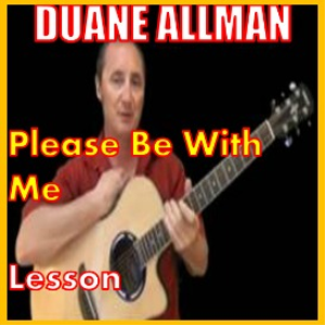 learn to play please be with me by duane allman