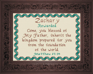 Name Blessings -  Zachary | Crafting | Cross-Stitch | Religious
