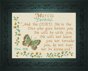Name Blessings -  Marcia | Crafting | Cross-Stitch | Religious
