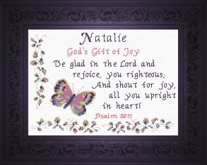 Name Blessings -  Natalie 2 | Crafting | Cross-Stitch | Religious