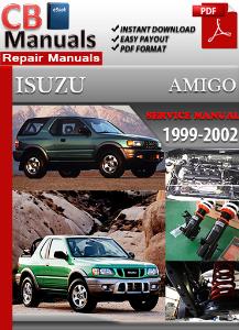 isuzu amigo 1999-2002 service repair manual