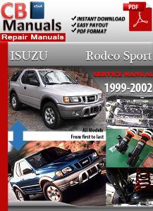 isuzu rodeo sport 1999-2002 service repair manual