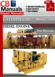 caterpillar engine diesel model 3508 service repair manual