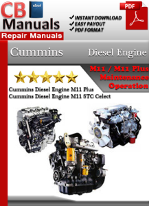 cummins diesel engine m11 service repair manual ebooks automotive rh store payloadz com Cummins VT 555 Engine 903 Cummins Diesel Engine