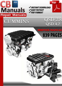 cummins qsd 4.2 diesel engines service repair manual