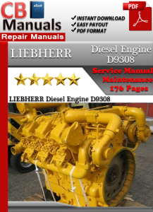 liebherr diesel engine d9308 service repair manual