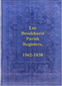 lee brockhurst parish registers