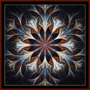 fractal 446 cross stitch pattern by cross stitch collectibles