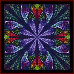 fractal 448 cross stitch pattern by cross stitch collectibles