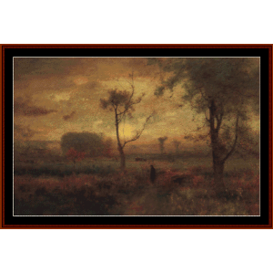 sunrise, 1887 - george inness cross stitch pattern by cross stitch collectibles