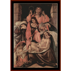 lamentation of christ - botticelli cross stitch pattern by cross stitch collectibles