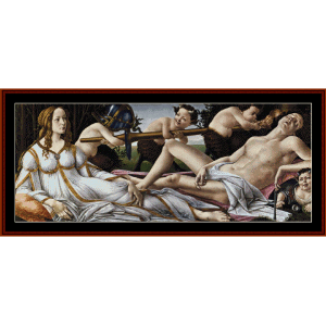 venus and mars - botticelli cross stitch pattern by cross stitch collectibles
