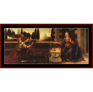 the annunciation - davinci cross stitch pattern by cross stitch collectibles