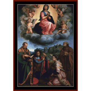 Assumption of the Virgin -Del Sarto cross stitch pattern by Cross Stitch Collectibles | Crafting | Cross-Stitch | Wall Hangings