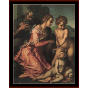 The Holy Family - Del Sarto cross stitch pattern by Cross Stitch Collectibles | Crafting | Cross-Stitch | Wall Hangings