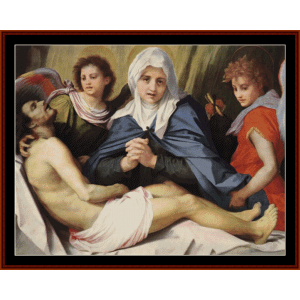 Lament of Christ - Del Sarto cross stitch pattern by Cross Stitch Collectibles | Crafting | Cross-Stitch | Wall Hangings