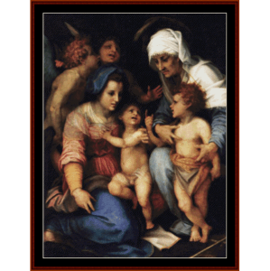 Madonna and Child - Del Sarto cross stitch pattern by Cross Stitch Collectibles | Crafting | Cross-Stitch | Wall Hangings